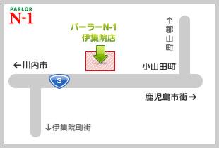 パーラーN-1伊集院店地図