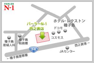 パーラーN-1徳之島店地図