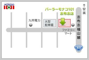 パーラーモナコ101志布志店地図